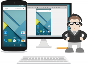 Remote support of an Android device through real-time screen sharing with ISL Light 3.0 for Android